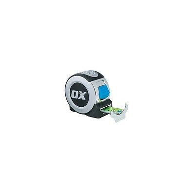 Ox-P020908 OX PRO HEAVY DUTY PROFESSIONAL TAPE MEASURE 8 METER CUSHIONED GRIP