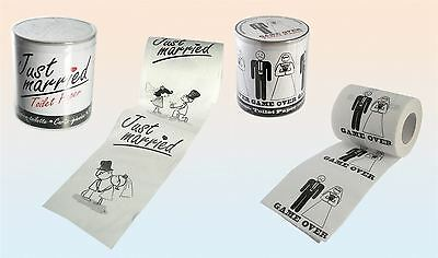 Novelty Bride Groom Wedding Toilet Paper Tissue Roll Party Gift Decoration Joke
