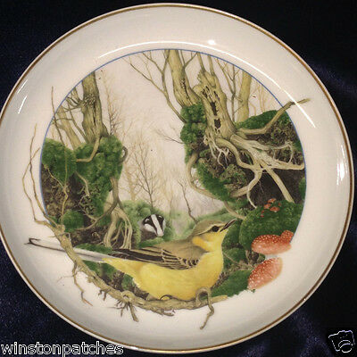 ARZBERG GERMANY MARTIN CAMM BIRDS OF THE COUNTRY MONTH NOVEMBER WALL PLATE