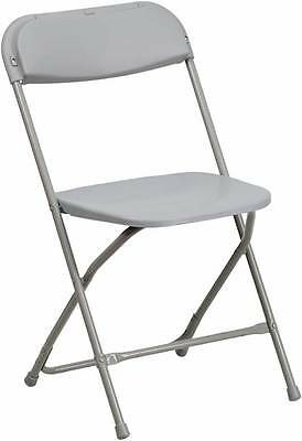 Lot Of 20 Hercules Series 440 Lb. Capacity Premium Gray Plastic Folding Chair