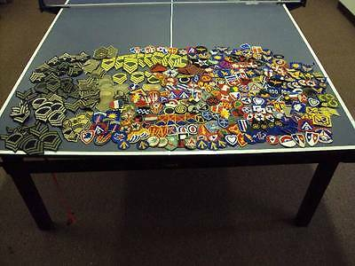 Lot of 330 WWII US Army Air Corps Engineer Infantry USMC Chevron patches