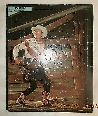 Vintage Western TV Toy Roy Rogers Puzzle Dated 1957 Frame Tray Inlay Old