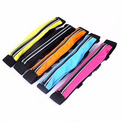 Double Pouch Waist Pocket Belt Zip Lycra Outdoor Activities Bum Bag Fit iPhone 6