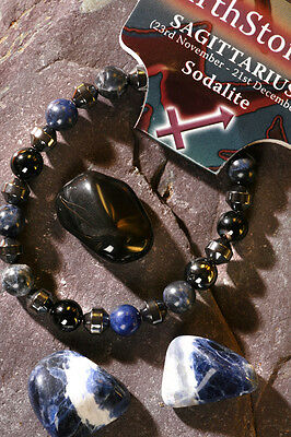 SAGITTARIUS-Lucky Birthstone & Talisman 'Power Bracelet' free book & Bookmark