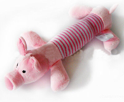 New Dog Toy Pet Puppy Chew Squeaker Squeaky Plush Sound Cute Pink Pig Toys