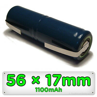 Replacement Toothbrush Battery for Braun Oral-B Sonic Complete 56mm x 17mm 2.4V