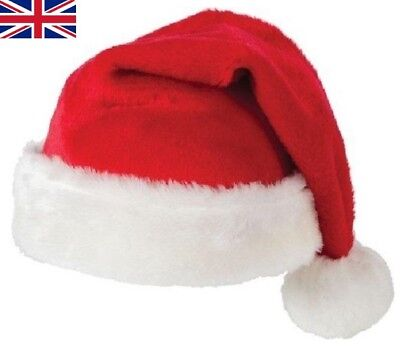 Unisex Father Christmas Hat XMAS Santa Family Gift For Adult Kid Baby lot UK