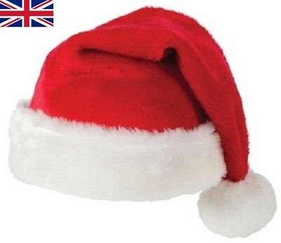 Unisex Father Christmas Hats XMAS Santa Family Gift For Adult/Kid/Baby lot UK