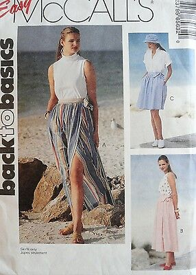WRAP SKIRT in 3 Lengths Pattern McCall's 6563