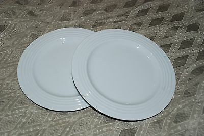 Porsgrund Norway SATURN White salad plate LOT OF 2 EUC  8""