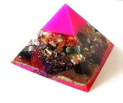 Orgonite Orgone Pyramid Ornament Healing Energy Chakra Meditation Crystal