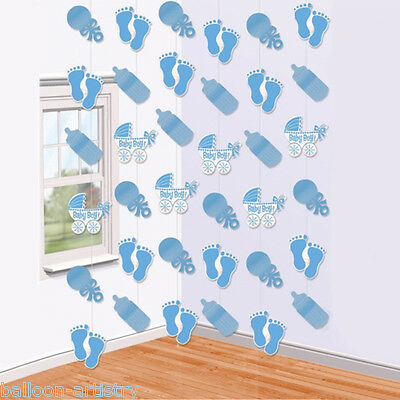 7ft Baby Shower New Baby Boy Blue 6 String Decoration Party