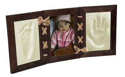 Baby Boy Or Girl Hand And Foot Print Casting Kit & Photo Frame Baby Shower Gift