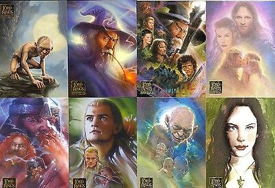 2006+2008 LOTR Lord of the Rings Masterpieces 1+2 COMPLETE 90+72 BASE SET LOT
