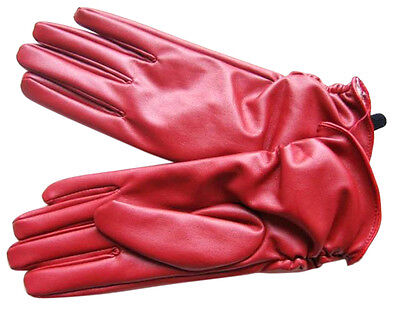 Real Man-made Leather Gloves Glove Bike Motor Cycling Mittens