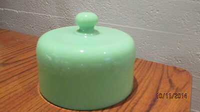 Vintage McKee Jadite Laurel Cheese Dome  HTF