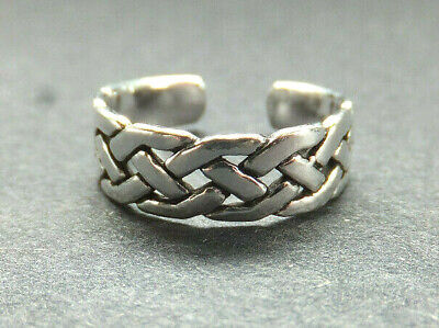 SOLID SILVER TOE RING, Celtic Knot design *BN* good quality, sturdy toe ring