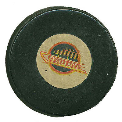 Vintage Vancouver Canucks Game-Used Official NHL Hockey Puck