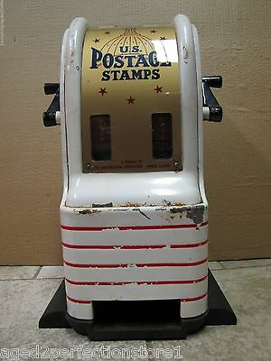 Vintage U.S. Postage Stamps Vending Machine counter top dime quater 4&5 cent stm