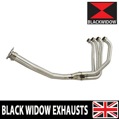 Black Widow Kawasaki Zx7R Zx7 R Exhaust Pipes Headers Down Front Pipes Manifold