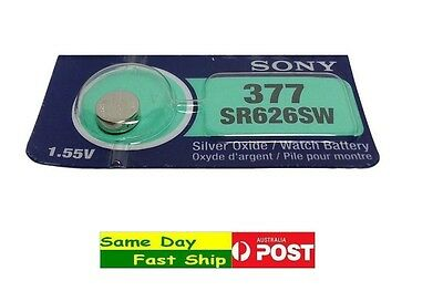 1 x Brand new SONY Silver Oxide SR626SW 377 Watch CELL BATTERY fast ship