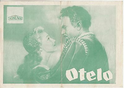 Otello-Sergey Bondarchuk/irina Skobtseva-Original Yugoslav Movie Program 1955