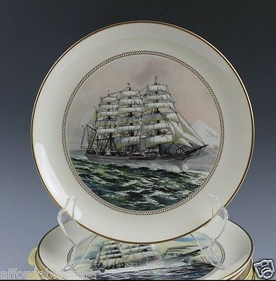 The Danbury Mint TALL SHIPS Set Of 12 Plate Plates - Excellent Condition!