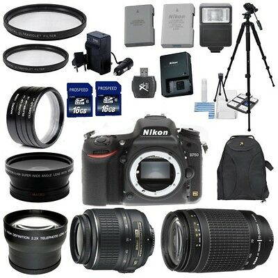 Nikon D750 with 18-55VR II + 70-300G Zoom 8 Lens AutoFocus Deluxe Kit