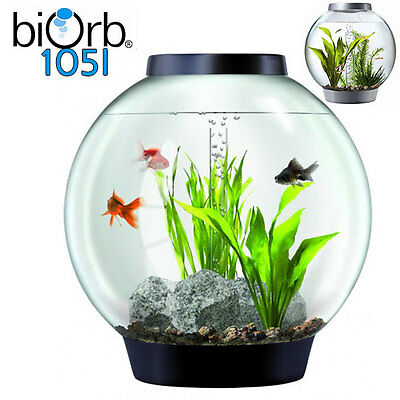biorb Classic 105 Design Komplett Kugelaquarium Set Kaltwasser mit Moonlight LED