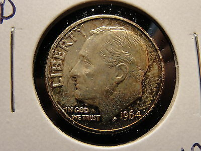 1964 D Roosevelt Silver Dime MS Mint State Nice Toning