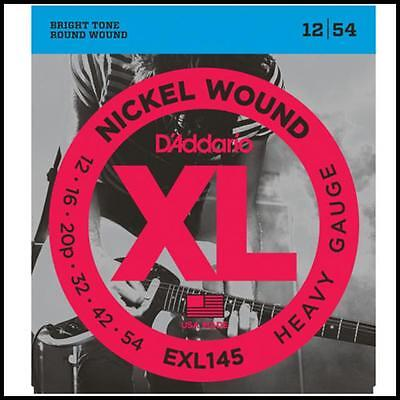 D'Addario EXL145 Heavy gauge Nickel Wound Electric Guitar Strings 12 - 54 New