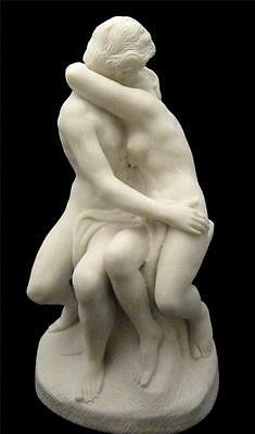 The Kiss after Rodin reconstituted marble group