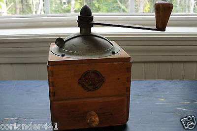 Circa Early 1900's SURM Hand Crank Coffee Mill/Grinder Made in Paris, France