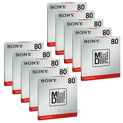 New! Sony MD80 Blank Mini Disc 80 Minutes Recordable 10 Packs from Japan