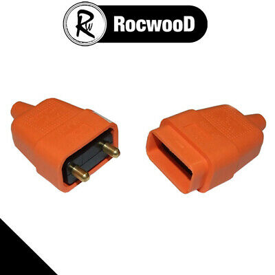 Plug And Socket Cable Connector 2 Pin Suitable For Flymo