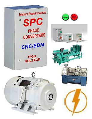 40 HP Rotary Phase Converter Panel CNC Rated