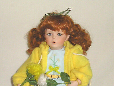 Limited Edition Diana Blowing Dandelions Porcelain Doll by Marie Osmond # 410
