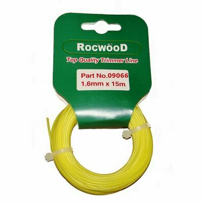Nylon Strimmer Line, Cord 1.6mm x 15 M Metres Fits Flymo & Bosch