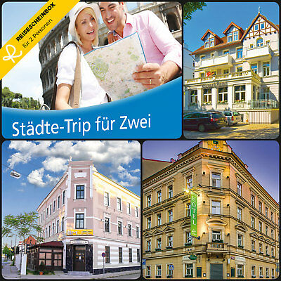 3 Day City Trip for 2 approx. 80 Hotels Short Travel Voucher Vacation WOW