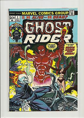 Ghost Rider #2 Vf 8.0 1St Full App. Of Daimon Hellstrom! *bronze Age* 1973