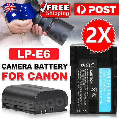 OZ Camera Battery LP-E6 for Canon EOS 5D Mark III EOS 80D 70D 7D 60D 6D 2650mAh