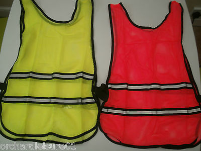Fitness high visability reflective mesh running cycling vest pink or yellow NEW