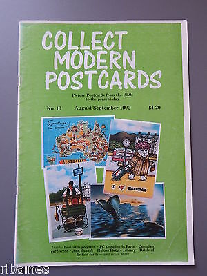 R&L: Collect Modern Postcards Magazine No.10 Aug 1990 Sporting/Military Planes