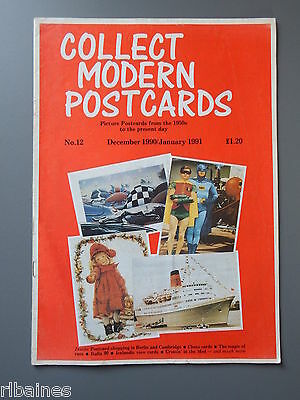R&L: Collect Modern Postcards Magazine No.12 Dec 1990, Chess/Berlin/Christmas