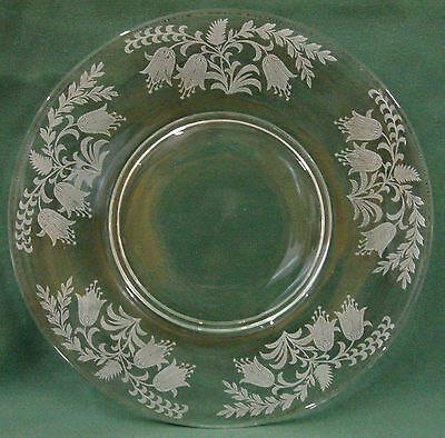 Tiffin Crystal FUSHCIA Luncheon Plate BEST Multiple Available