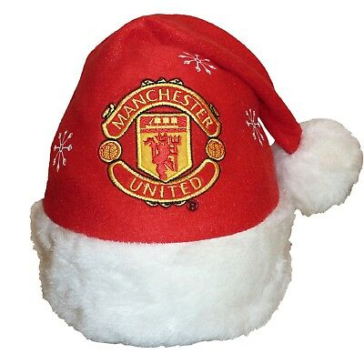 Manchester United FC Official Xmas Gift Christmas Santa Beanie Hat