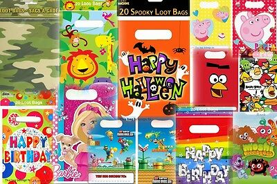 Children's Boys-Girls Colourful Birthday/Party Loot Bags