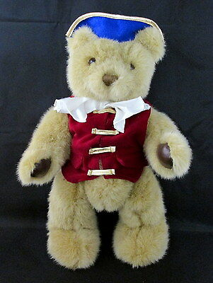 """Dakin plush bear 17"""" jointed American revolution colonial outfit limited edition"""