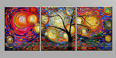 3PC Modern Abstract Huge Wall Decor Oil Painting On Art Canvas (No frame)