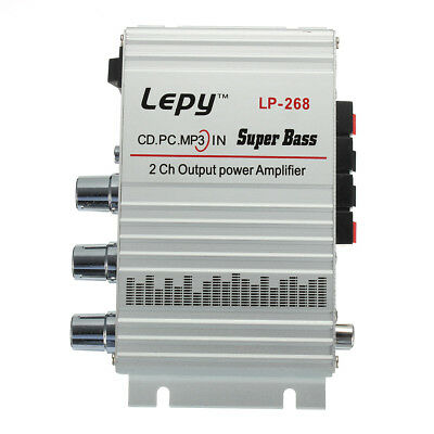 Lepai Lepy LP-268 2 CH Mini Hi-Fi Stereo Amplifier Amp Radio MP3 DC 12V 2A